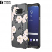 Incipio Classic Case Design Series - дизайнерски удароустойчив TPU кейс за Samsung Galaxy S8 Plus (сив-розов)