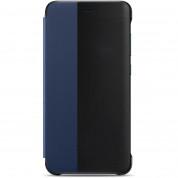 Huawei Smart Cover Window - оригинален кожен калъф за Huawei P10 Lite (черен-син) 1