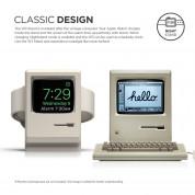 Elago W3 Watch Stand - силиконова винтидж поставка в стила на Apple Macintosh (1984) за Apple Watch (бяла) 1