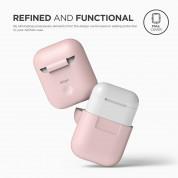 Elago Airpods Silicone Case - силиконов калъф за Apple Airpods (розов) 3