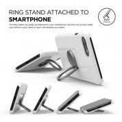 Elago Ring Holder Stand - поставка и аксесоар против изпускане на вашия смартфон (тъмносива) 5
