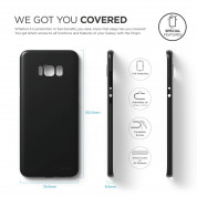 Elago Inner Core Case - тънък полипропиленов кейс (0.3 mm) за Samsung Galaxy S8 Plus (черен) 6