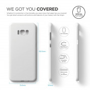 Elago Inner Core Case - тънък полипропиленов кейс (0.3 mm) за Samsung Galaxy S8 Plus (бял) 6