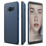 Elago Inner Core Case - тънък полипропиленов кейс (0.3 mm) за Samsung Galaxy S8 Plus (тъмносин)