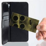4smarts Ultimag Wallet Westport Reptile Case - универсален кожен калъф с магнитно захващане за смартфони до 6.1 инча (черен) 2