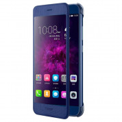 Huawei View Cover - оригинален кожен калъф за Huawei Honor 8 Pro (син)
