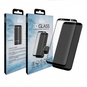 Eiger 3D Glass Edge to Edge Curved Tempered Glass - калено стъклено защитно покритие с извити ръбове за целия дисплея на Samsung Galaxy S8 (черен-прозрачен) 3