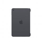 Apple Silicone Case - оригинален силиконов кейс за iPad mini 4 (тъмносив)