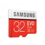 Samsung MicroSD 32GB EVO Plus UHS-I (U3) Memory Card - MicroSD памет със SD адаптер за Samsung устройства (клас 10) (модел 2017)  1