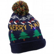 KitSound Beanie Hat with LED Lights, Pom Pom in Christmas Tree 1