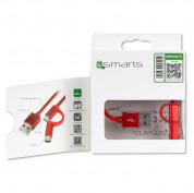 4smarts ComboCord USB to Micro-USB + Type-C 100cm (red) 4
