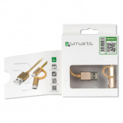 4smarts ComboCord USB to Micro-USB + Type-C 100cm (gold 4