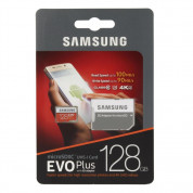 Samsung MicroSD 128GB EVO Plus UHS-I (U3) 4K UHD Videos Memory Card (2017) (GoPro) Compatible 7