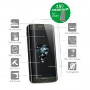 4smarts 360° Premium Protection Set - тънък силиконов кейс и стъклено защитно покритие 2.5D за дисплея на iPhone 8, iPhone 7 (прозрачен) 3
