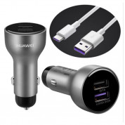 Huawei Quick Charge Dual-USB Car Charger AP31 with USB-C cable 1