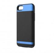 Comma MoreCard 2 Dual Sim Case - кейс с вградена батерия 1300mAh и слот за втора сим карта за iPhone 8, iPhone 7 (черен-син)
