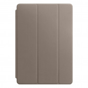 Apple Leather Smart Cover - оригинално кожено покритие за iPad Pro 10.5 (2017) (тъмнокафяв)