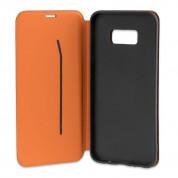 4smarts Flip Case Two Tone - кожен калъф с поставка и отделение за кр. карта за iPhone XS, iPhone X (черен) 2
