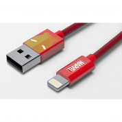 USB Tribe Marvel Iron Man Lightning Cable - сертифициран Lightning кабел за iPhone, iPad и iPod с Lightning  (120 см)  1