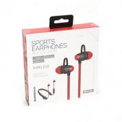 Platinet In-Ear Sport Bluetooth 4.1 Headset PM1065 - безжични спортни блутут слушалки за мобилни устройства (черен-червен) 1