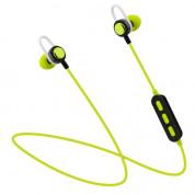 Platinet In-Ear Sport Bluetooth 4.2 Headset PM1068 - безжични спортни блутут слушалки за мобилни устройства (черен-зелен)