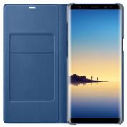 Samsung LED View Cover EF-NN950PN - оригинален кожен калъф през който виждате информация от дисплея за Samsung Galaxy Note 8 (тъмносин) 2
