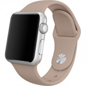 Apple Sport Band S/M & M/L - оригинална силиконова каишка за Apple Watch 38мм, 40мм (кафяв) (retail)