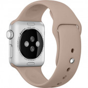Apple Sport Band S/M & M/L - оригинална силиконова каишка за Apple Watch 38мм, 40мм (кафяв) (retail) 1