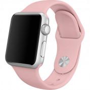Apple Sport Band S/M & M/L - оригинална силиконова каишка за Apple Watch 38мм, 40мм (бледа роза) (retail)