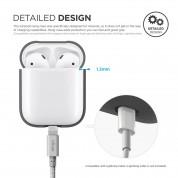 Elago Airpods Silicone Hang Case - силиконов калъф с карабинер за Apple Airpods (тъмносив) 1