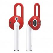 Elago Airpods EarPads - антибактериални силиконови калъфчета за Apple Airpods (червен) (4 броя)
