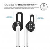 Elago Airpods EarPads - антибактериални силиконови калъфчета за Apple Airpods (черен) (4 броя) 1