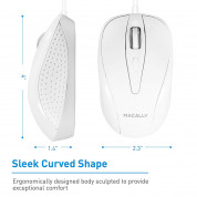 Macally TurboC Mouse - USB-C оптична мишка за PC и Mac 3