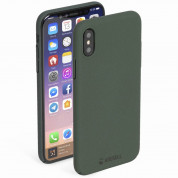 Krusell Sandby Cover - поликарбонатов кейс за iPhone XS, iPhone X (зелен)