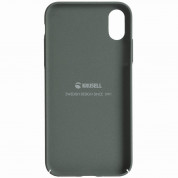 Krusell Sandby Cover - поликарбонатов кейс за iPhone XS, iPhone X (зелен) 1