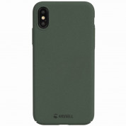 Krusell Sandby Cover - поликарбонатов кейс за iPhone XS, iPhone X (зелен) 5
