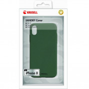 Krusell Sandby Cover - поликарбонатов кейс за iPhone XS, iPhone X (зелен) 2