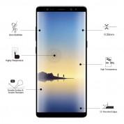 Eiger 3D Glass Edge to Edge Curved Tempered Glass - калено стъклено защитно покритие с извити ръбове за целия дисплея на Samsung Galaxy Note 8 (черен-прозрачен) 5