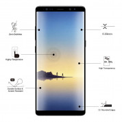 Eiger 3D Glass Case Friendly Curved Tempered Glass for Samsung Galaxy Note 8 (black-clear) 5