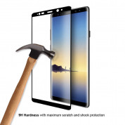 Eiger 3D Glass Case Friendly Curved Tempered Glass for Samsung Galaxy Note 8 (black-clear) 3