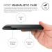 Elago Origin Case - тънък полипропиленов кейс (0.3 mm) за iPhone XS, iPhone X (черен) 2