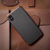 Elago Empire Case - качетвен хибриден кейс за iPhone XS, iPhone X (черен) 5