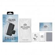 Eiger 3D Glass Case Friendly Curved Tempered Glass - калено стъклено защитно покритие с извити ръбове за целия дисплея на iPhone 11 Pro, iPhone XS, iPhone X (черен-прозрачен) 8