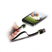 Mobee Smart Cable - кабел изработен от рециклирани материали за устройства с microUSB (100 см) (черен)