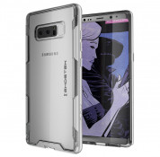 Ghostek Cloak 3 Case - хибриден удароустойчив кейс за Samsung Galaxy Note 8 (прозрачен-сребрист)