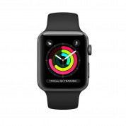 Apple Watch Series 3, 38mm Space Gray Aluminum Case with Black Sport Band - умен часовник от Apple 1