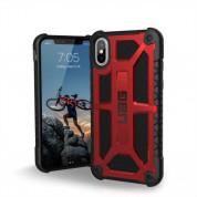 Urban Armor Gear Monarch Case - удароустойчив хибриден кейс за iPhone XS, iPhone X (червен-черен) 1