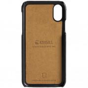 Krusell Tumba 2 Card Cover - кожен кейс (ествествена кожа) с 2 отделения за карти за iPhone XS, iPhone X (черен) 4