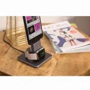 TwelveSouth HiRise Duet - алуминиева повдигаща поставка за iPhone и iPad с Lightning и Apple Watch (черна) 5