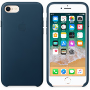 Apple iPhone Leather Case for iPhone 8, iPhone 7 (cosmos blue) 1